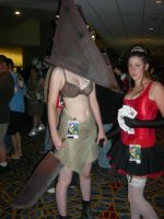 Pyramid Head Girl by StarvingArtist16