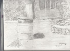 Value drawing of Trash Can by psychoviolinist1012