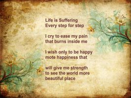 Life is Suffering Wallpaper by Thue