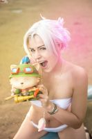 Riven ~ Pool Party fun cosplay!! by magmasaya