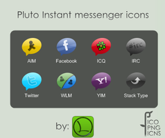 Messaging icons 'Pluto' by lopagof