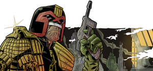 Judge Dredd - Detail by The-Real-NComics