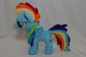 Filly Rainbow Dash Plush by makeshiftwings30