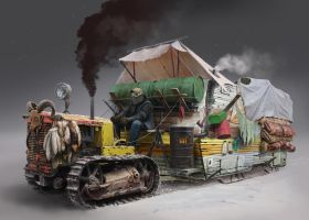 Snow tractor by 5ofnovember