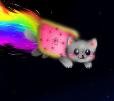 Nyan Cat by RainbowHanako