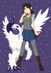 Aurora Avelon - Mega Absol by halloweenchild13