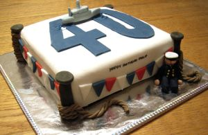 Navy cake by InvisibleSnow