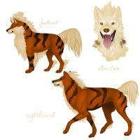 Breeding: Arcanine by queeniewolf