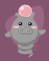 14 - Psychic - Spoink by meglish