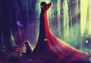 Little Red Riding Witch II by LaVampyress