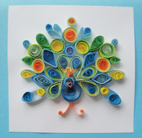 Quilled Peacock by LeonieIsaacs