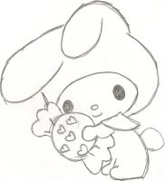 My Melody and Sweet by plushmush