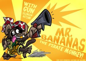 Mr.Bananas the Pirate Monkey by GagaMan