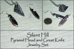 Silent Hill - Pyramid Head Charm Jewelry Set by YellerCrakka