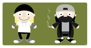 jay and silent bob by striffle