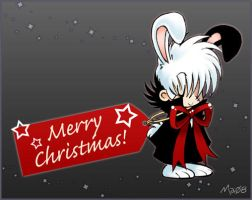 Christmas Black Jack Bunny by maiyeng