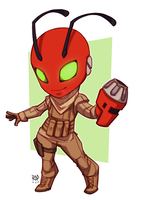 red robot - commission by samuraiblack