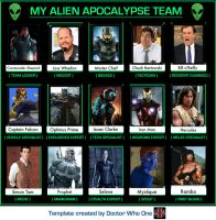 My Alien Apocalypse Team by CommnderShepard117