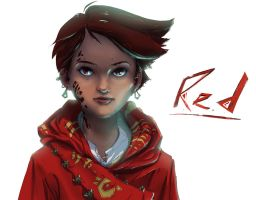 Red Portrait Study by Sterfry7