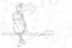 Stargirl pencil by cehnot
