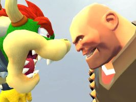 Bowser VS Heavy weapons guy by lkhrizl