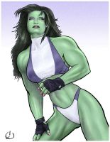 She-Hulk and The Missing Belly Button by yatz