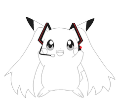 pikachu lineart 6 by michy123