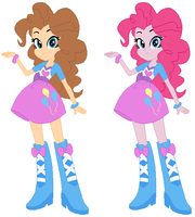 Pinkie Pie different colours by HubyGuby