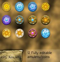 RPG Coins Set by LoversHorizon