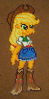 Applejack Equestria GIrls perler craft by Pika-Robo