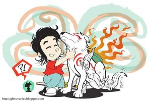 Issun Gless Amaterasu Okami by GlessManias