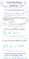 Handwriting MmE by Voltaireon