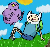 Adventure Time - Finn and LSP by evil-smoothie