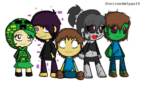 Humanized Minecraft Monsters by sonicandmlpgal8