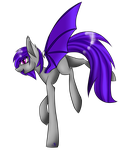 Moonlight the Batpony (Gift) by Changeling-Neon
