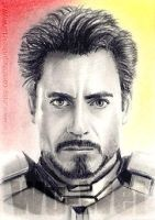 Robert Downey Jnr. miniature by whu-wei