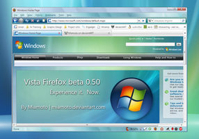 Vista Firefox beta 0.50 by Miamoto