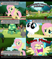 Fluttershy's Job - Screenshot Comic by akumath