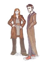The Doctor and Donna by rebexi