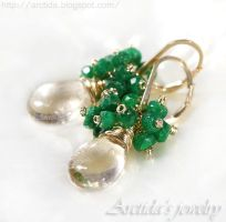 *Alanna* Emerald earrings by Arctida