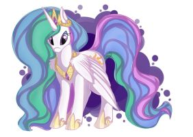 PrincessCelestia_1 by EllesDoodleBox
