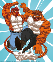 Liger twins 2: Sichuan and Safran by Sat by Fast-Ashadonic