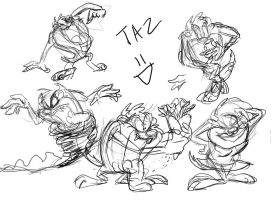 Taz doodles by buster126