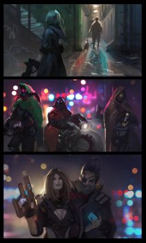 CyberStreet 2091: Visual Development by RyoTazi