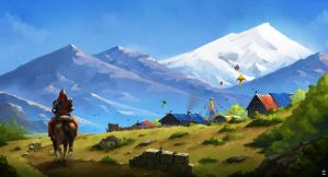 Village of Kites by desmondWOOT