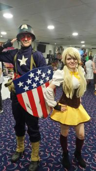Captain America and Madoka Magica by fireman5