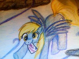 Derpy dont bring me bills!!! bring me coffee... by mistresscarrie