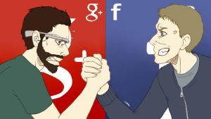 Commission: Google+ VS. Facebook by LoveToTheCucumber