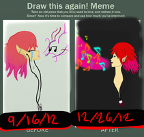 sweet notes draw it again meme by honeychon