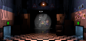 WIP 2 - FNAF 2 Office by Dweebnut